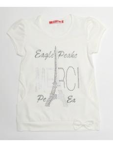 Туника белая на девочку Эйфелева башня